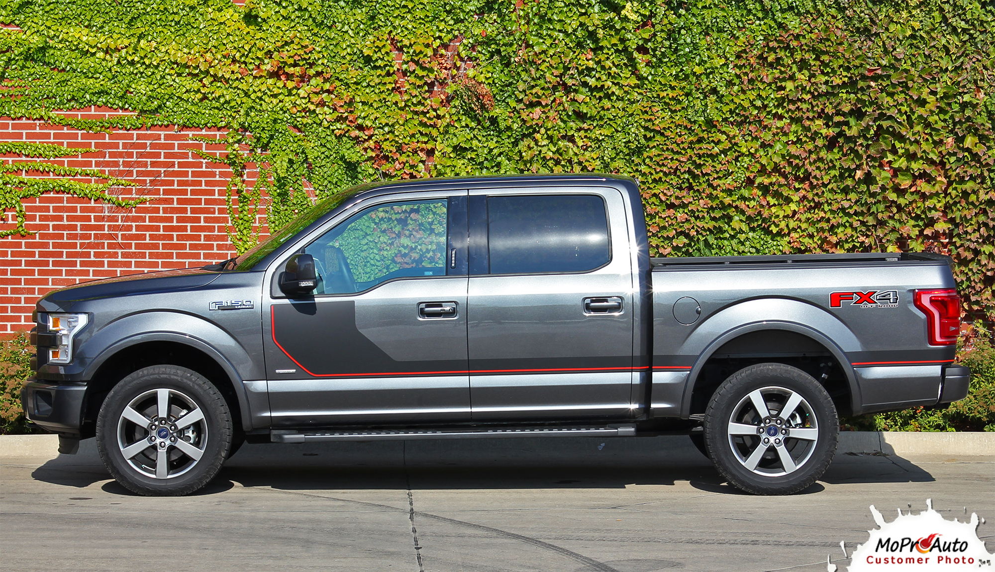 2015, 2016, 2017, 2018, 2019, 2020 Sideline Special Edition Ford F-Series F-150 Door Hockey Stick Appearance Package Vinyl Graphics and Decals Kit by MoProAuto Pro Design Series