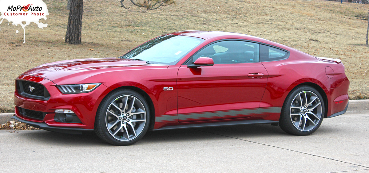 STALLION ROCKER GT Ford Mustang - MoProAuto Pro Design Series Vinyl Graphics and Decals Kit