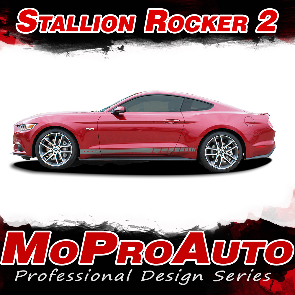 2015 2016 2017 STALLION ROCKER GT Ford Mustang - MoProAuto Pro Design Series Vinyl Graphics and Decals Kit