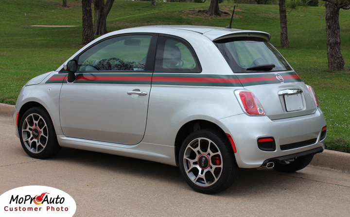 Abarth FIAT 500 Vinyl Graphics, Stripes and Decals Set by MoProAuto Vinyl Graphics Decals Striping Kits