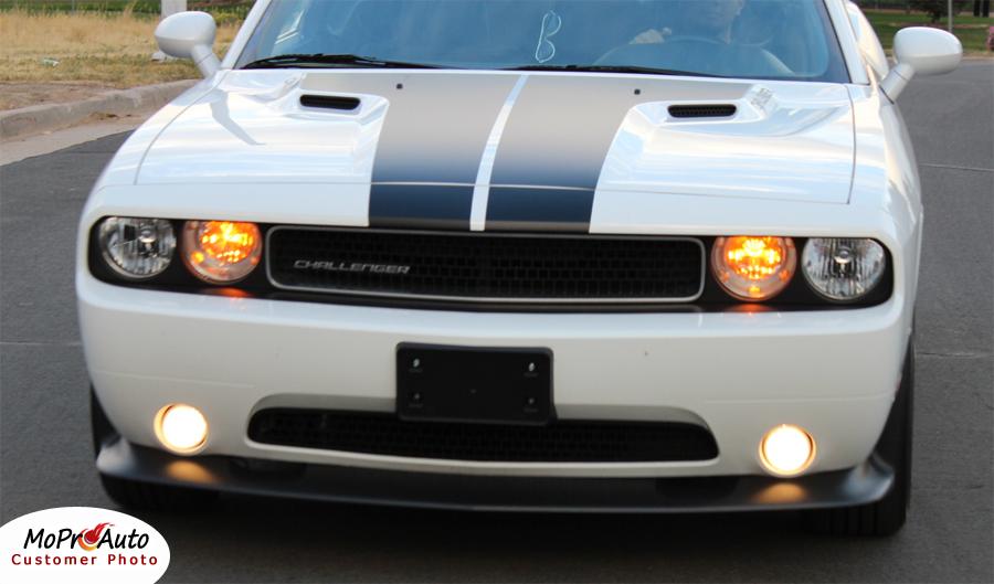 Dodge Challenger HOOD Vinyl Graphics, Stripes and Decals Set