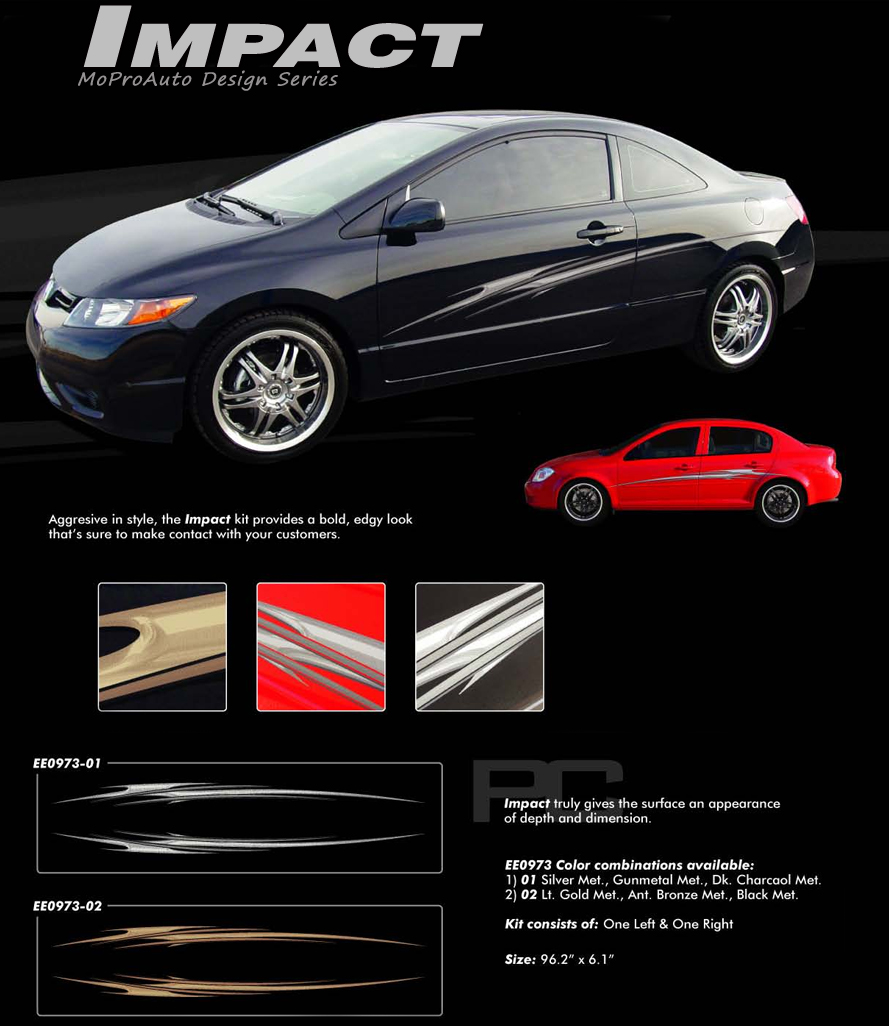 IMPACT MoProAuto Pro Design Series Vinyl Graphics and Decals Kit