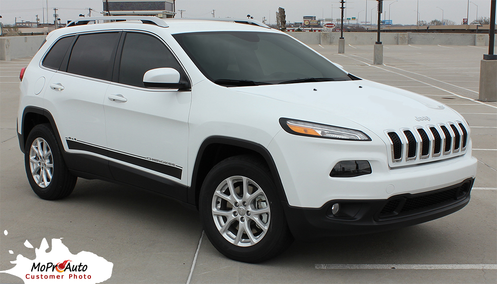 Jeep Cherokee Brave - MoProAuto Pro Design Series Vinyl Graphics, Stripes and Decals Kit