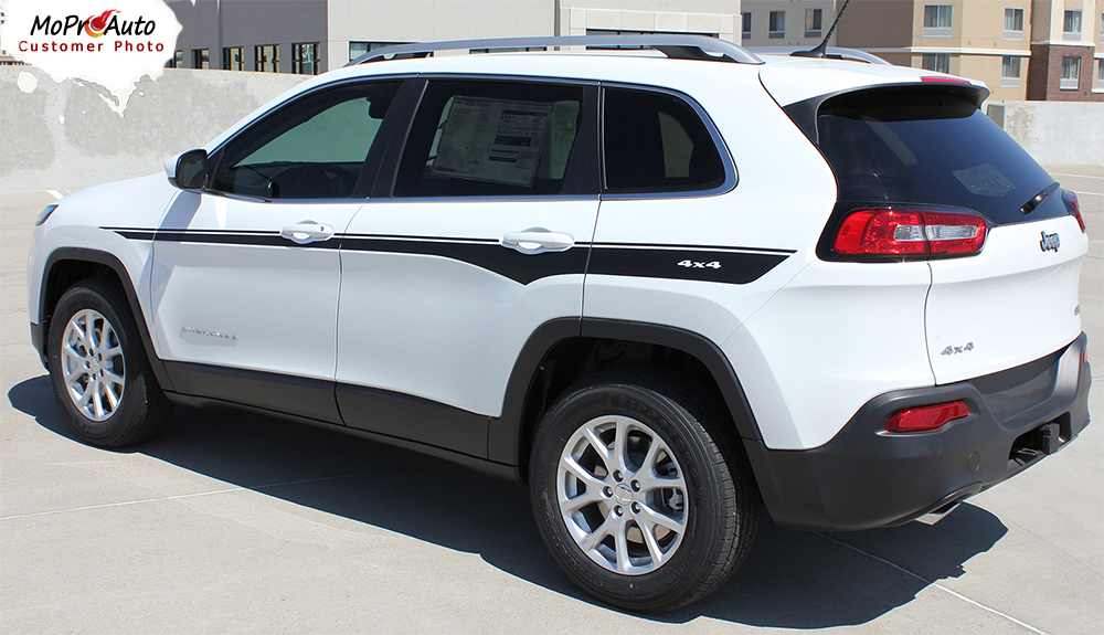 Chief Jeep Cherokee - MoProAuto Pro Design Series Vinyl Graphics, Stripes and Decals Kit