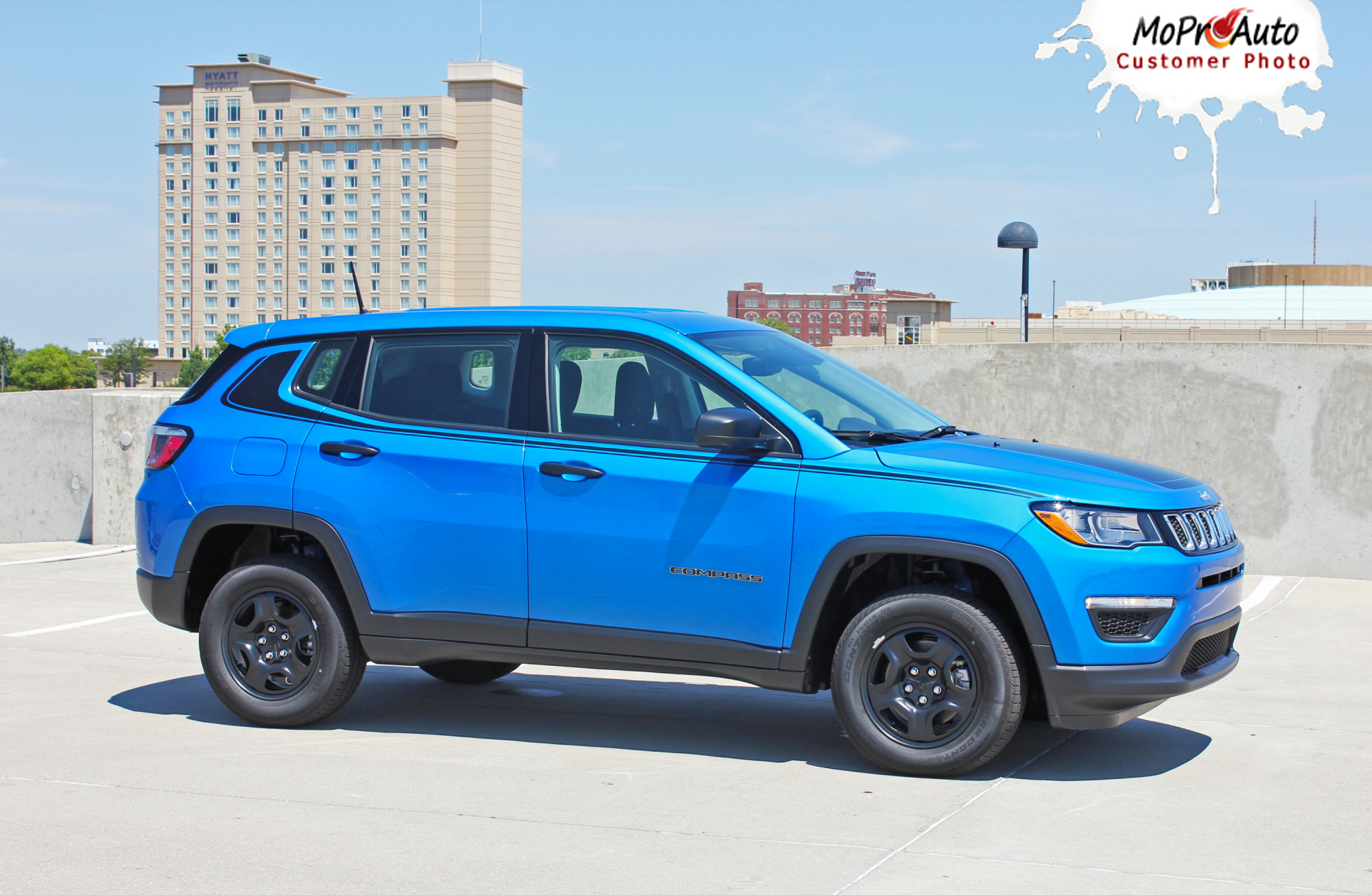 2017, 2018, 2019, 2020 Jeep Compass Vinyl Graphics Decals Stripes | Customer Photo Altitude