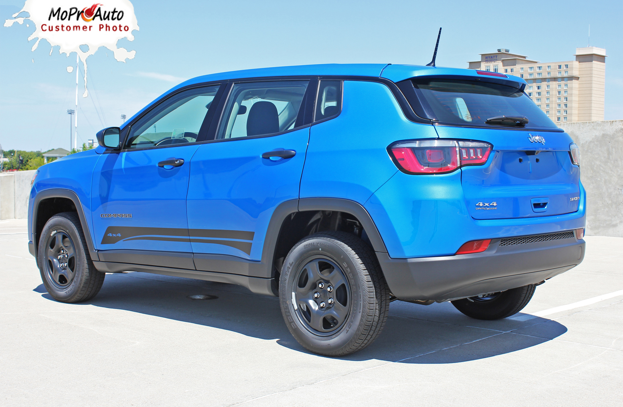 2017, 2018, 2019, 2020 Jeep Compass Vinyl Graphics Decals Stripes | Customer Photo Course