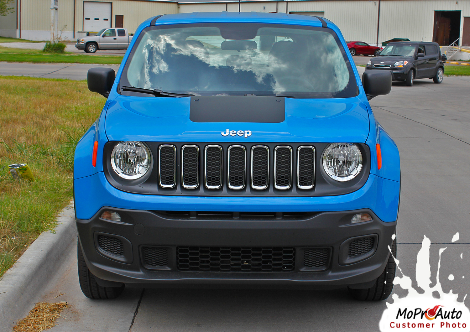 RENEGADE HOOD Jeep Renegade Hood Graphic - MoProAuto Pro Design Series Vinyl Graphics, Stripes and Decals Kit