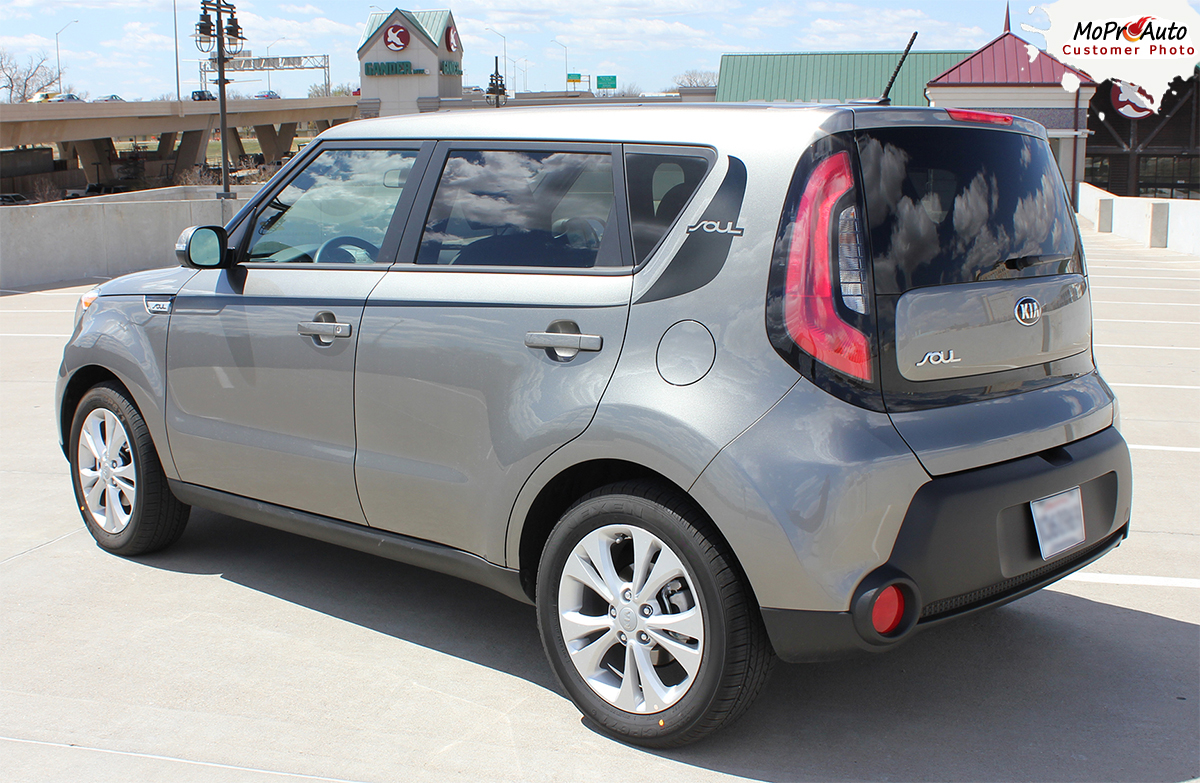 SOUL PATCH 2 : Vinyl Graphics Kit Engineered to fit 2014-2015 Kia Soul MoProAuto Pro Design Series Vinyl Graphics, Stripes and Decals Kit