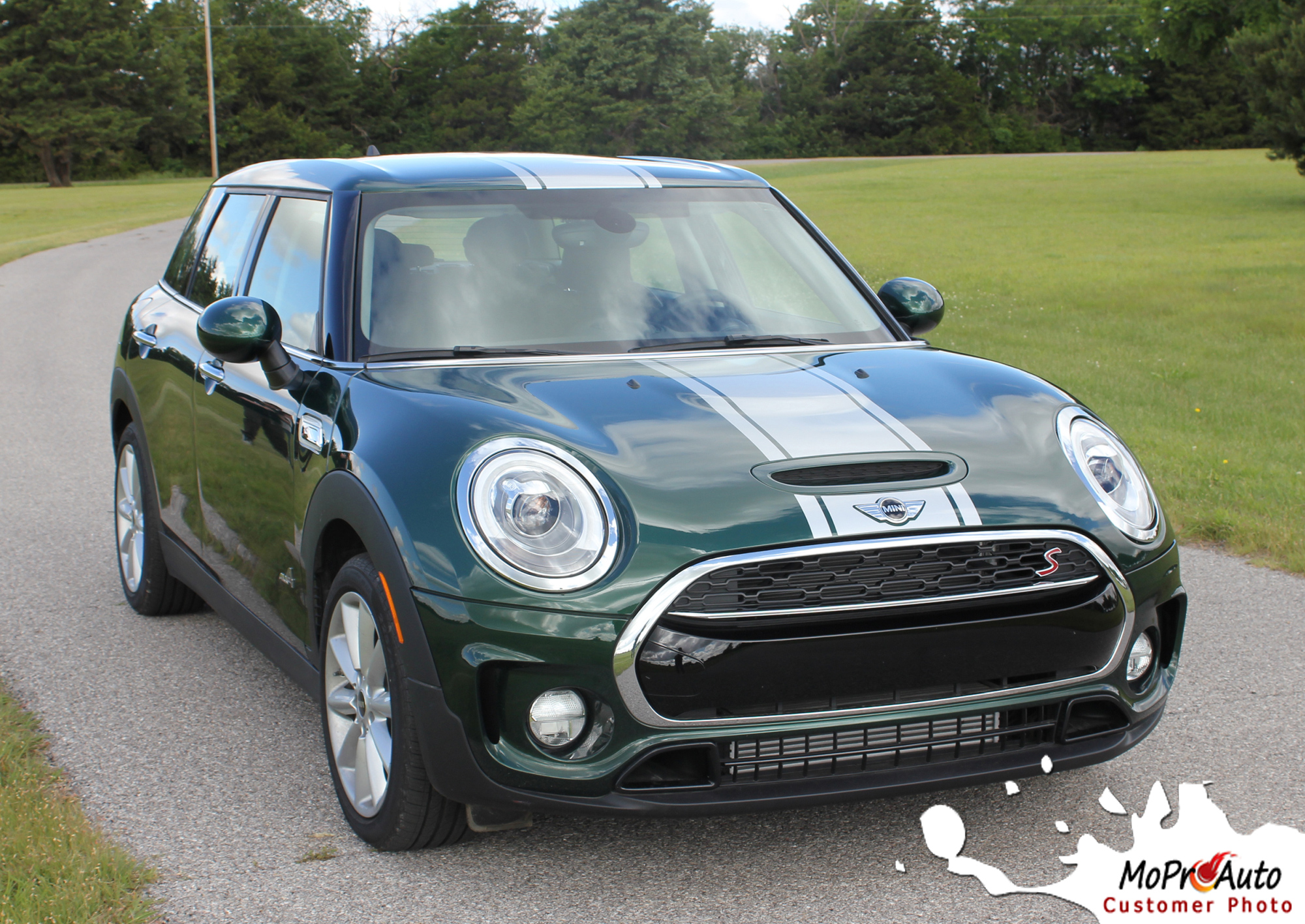 Mini Cooper CLUBMAN S-TYPE HOOD CENTER STRIPES Vinyl Graphics Stripes and Decals Kit