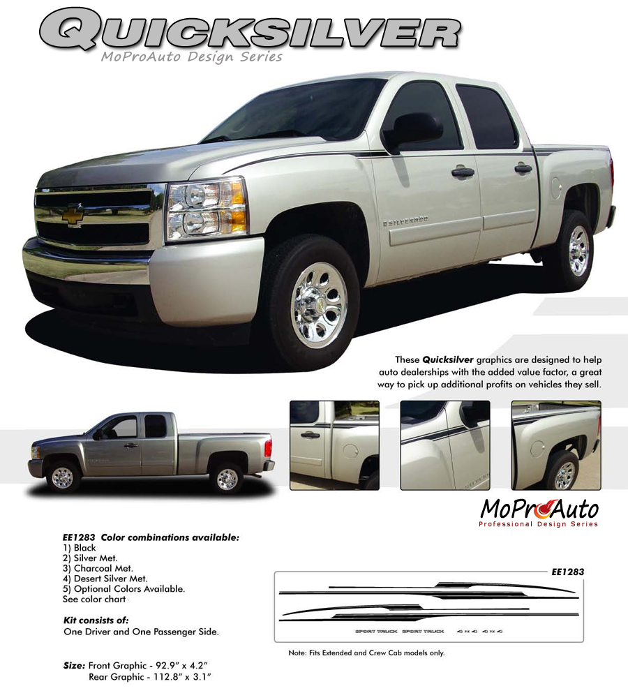 Chevy Silverado Truck Vinyl Graphics Stripes - Decals for trucks customizedcustom graphics decals honda chevy ford gmc mitsubishi