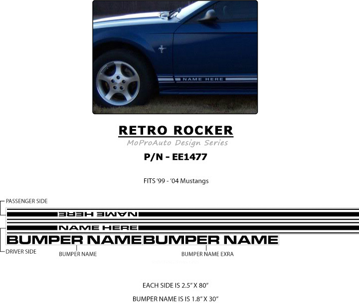 Mustang Retro Rocker Quot Oem Quot Factory Style 1999 2004 Ford