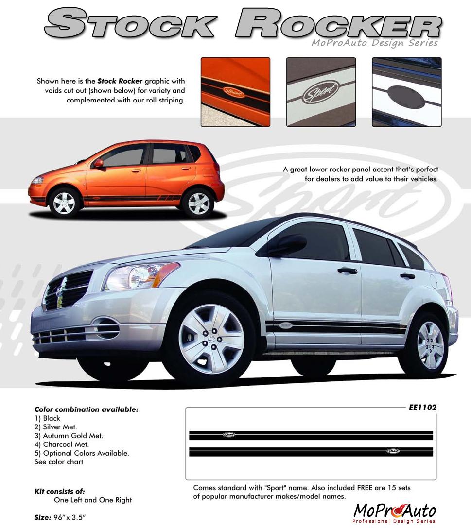 STOCK ROCKER - MoProAuto Pro Design Series Vinyl Graphics and Decals Kit