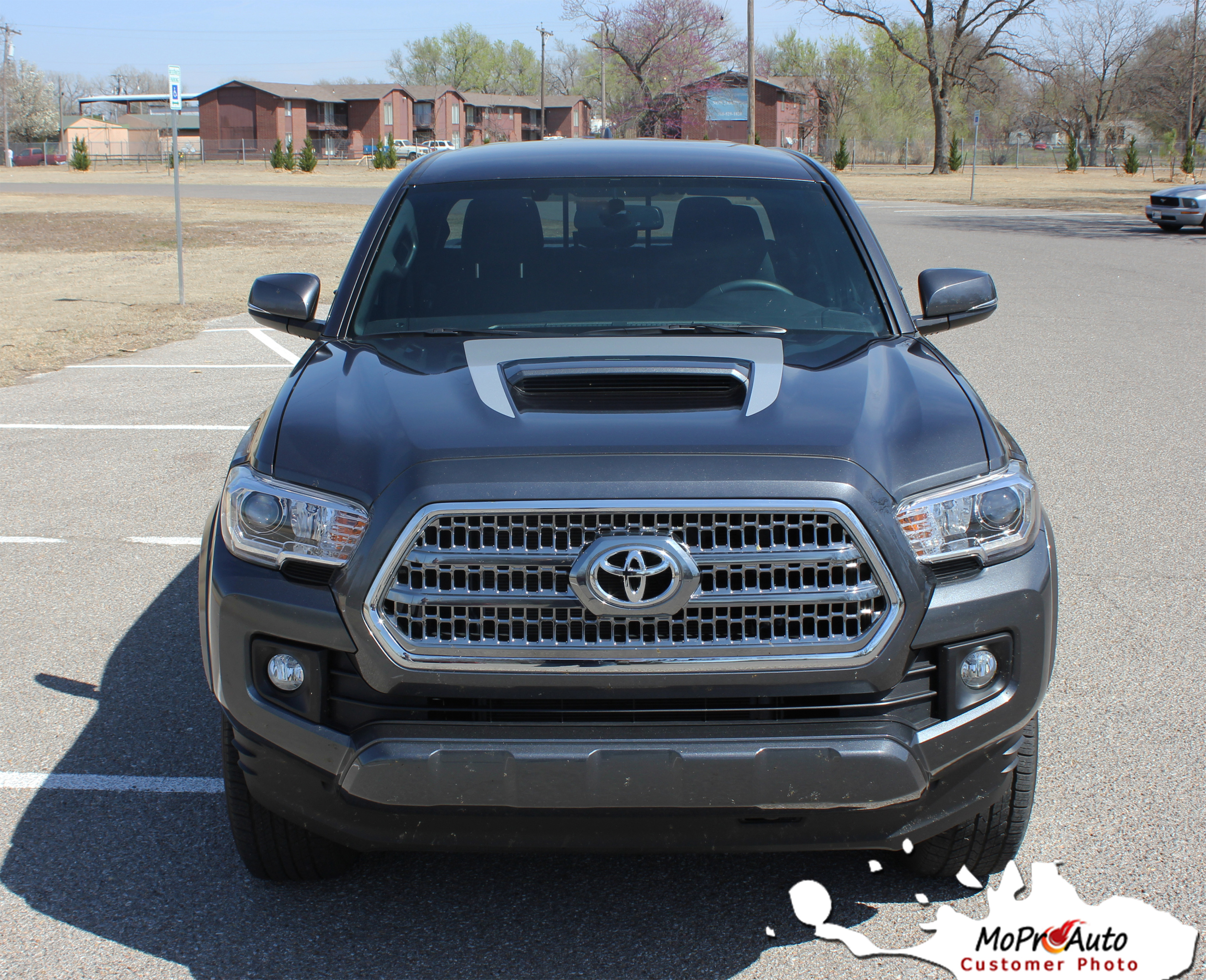 SPORT HOOD - Toyota Tacoma Truck TRD Sport Pro 3M 1080 Vinyl Graphics, Stripes and Decals Package by MoProAuto Pro Design Series