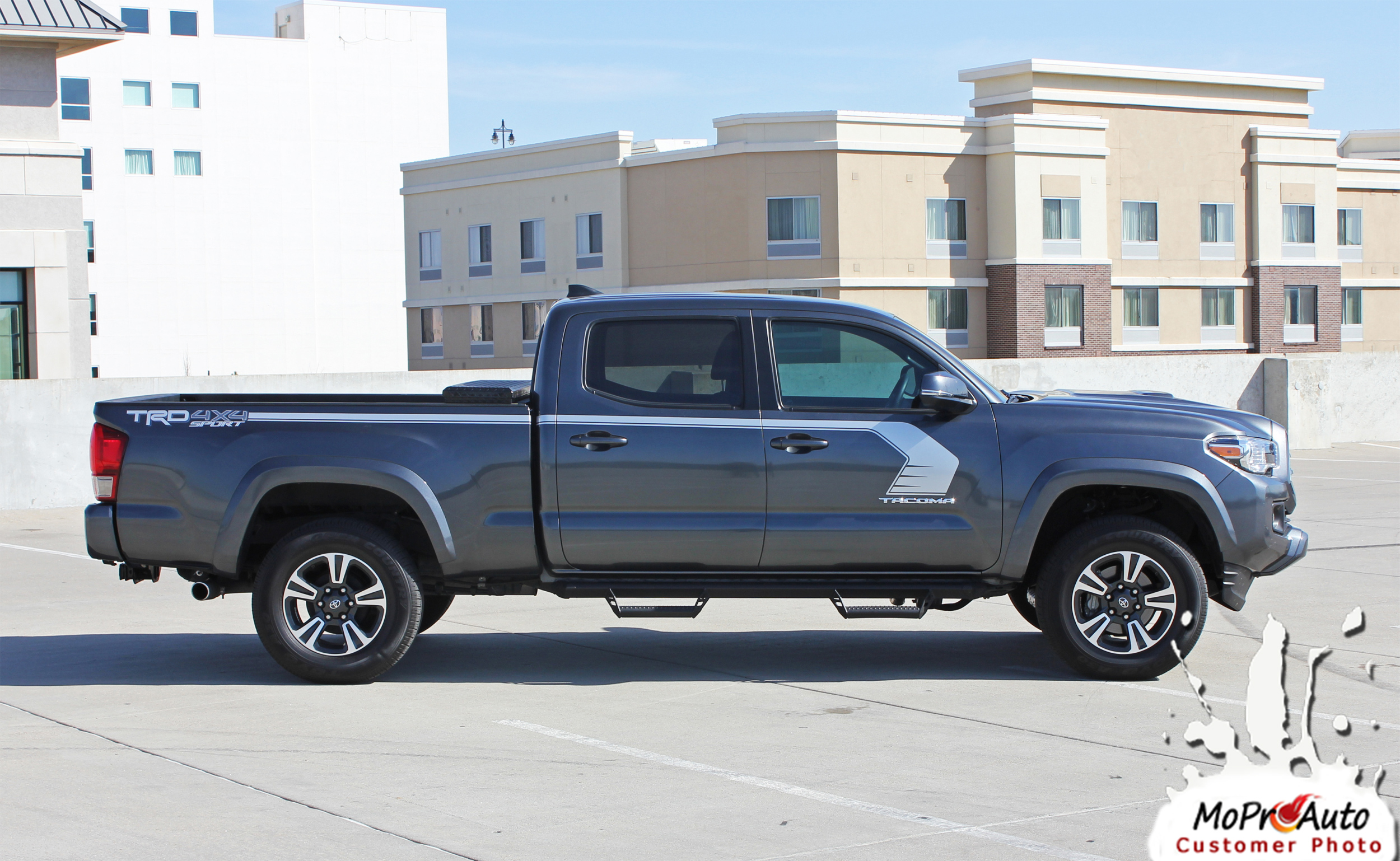 STORM - Toyota Tacoma Truck TRD Sport Pro 3M 1080 Vinyl Graphics, Stripes and Decals Package by MoProAuto Pro Design Series