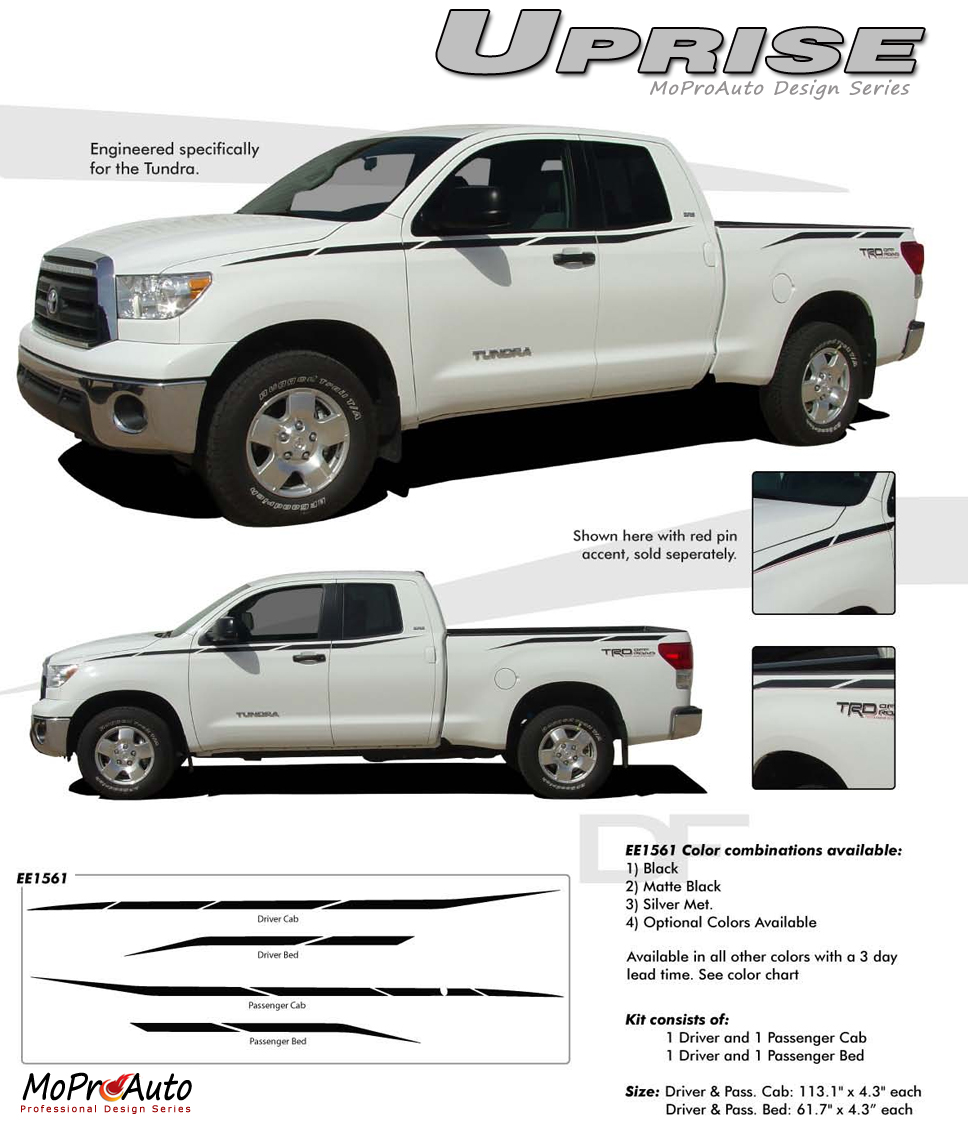UPRISE TOYOTA TUNDRA - MoProAuto Pro Design Series Vinyl Graphics and Decals Kit