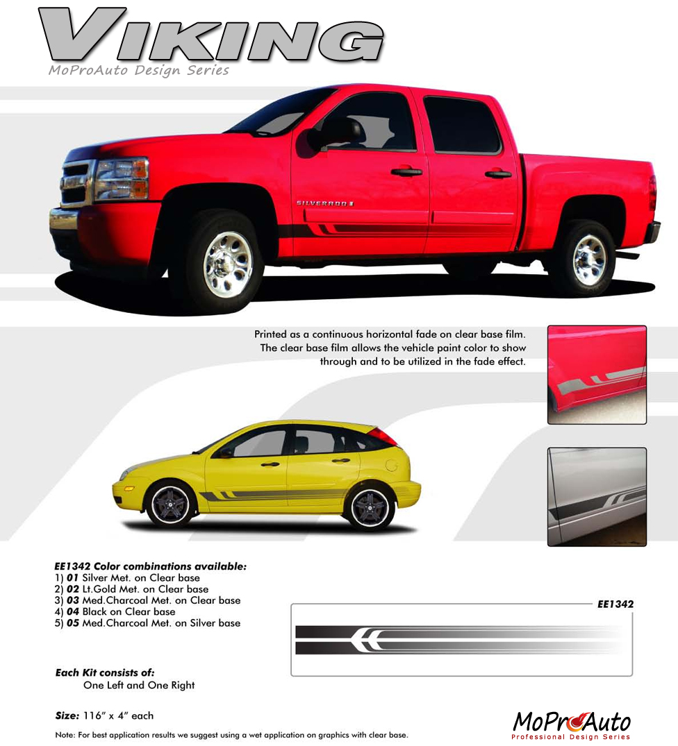 VIKING - MoProAuto Pro Design Series Vinyl Graphics and Decals Kit