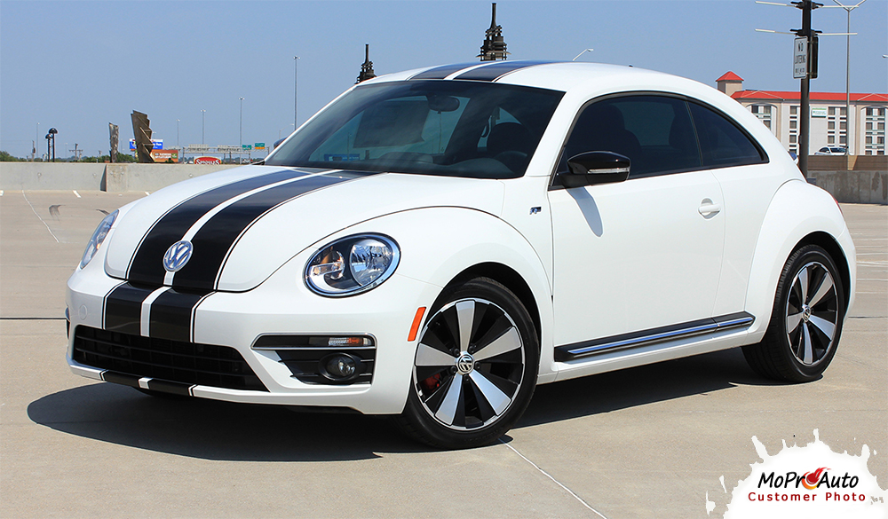 Volkswagen Beetle Racing Stripes - MoProAuto Pro Design Series Vinyl Graphics and Decals Kit