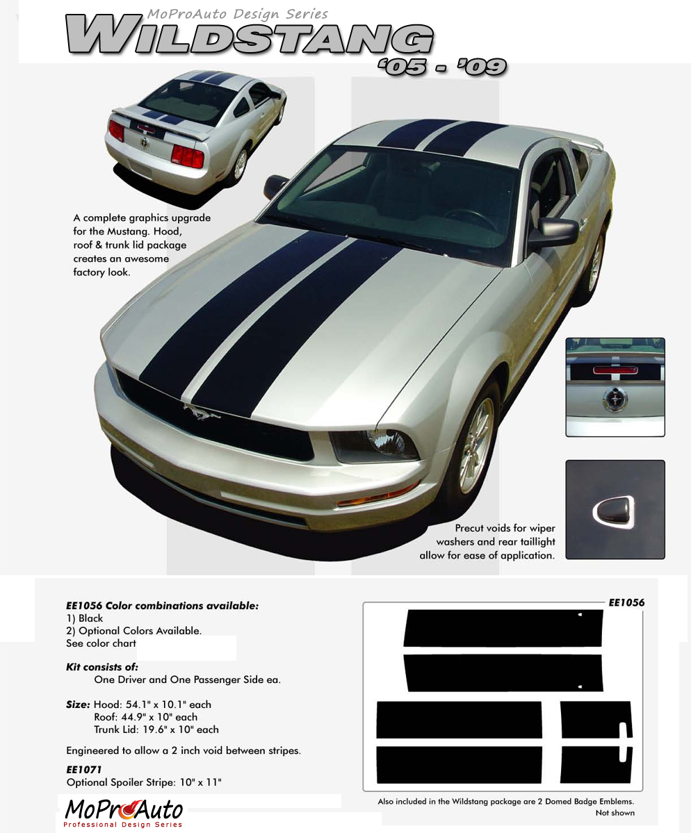 WILDSTANG Ford Mustang - MoProAuto Pro Design Series Vinyl Graphics and Decals Kit