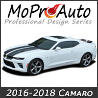 MoProAuto Pro Design Series Vinyl Graphic Decal Stripe Kits for the new 2016-2017 Chevy Camaro Model Years
