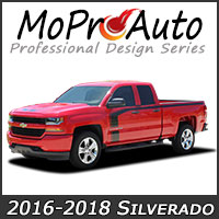 Featuring our MoProAuto Pro Design Series Vinyl Graphic Decal Stripe Kits for 2000-2017 Chevy Silverado Model Years