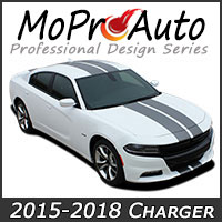 2015-2017-2018 Dodge Charger MoProAuto Pro Design Series Vinyl Graphic Decal Stripe Kits