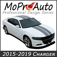 2015-2019 Dodge Charger MoProAuto Pro Design Series Vinyl Graphic Decal Stripe Kits