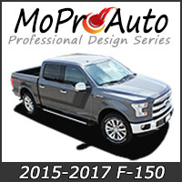 MoProAuto Pro Design Series Vinyl Graphic Decal Stripe Kits for 2015 2016 2017 2018 Ford F-150 Series Model Years