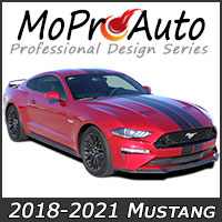 MoProAuto Pro Design Series Vinyl Graphic Decal Stripe Kits for 2018 2019 Ford Mustang