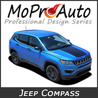 MoProAuto Pro Design Series Vinyl Graphic Decal Stripe Kits for 2017 2018 Jeep Compass