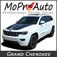MoProAuto Pro Design Series Vinyl Graphic Decal Stripe Kits for 2011-2019 Jeep Grand Cherokee