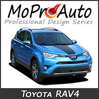 MoProAuto Pro Design Series Vinyl Graphic Decal Stripe Kits for 2015-2018 Toyota RAV4