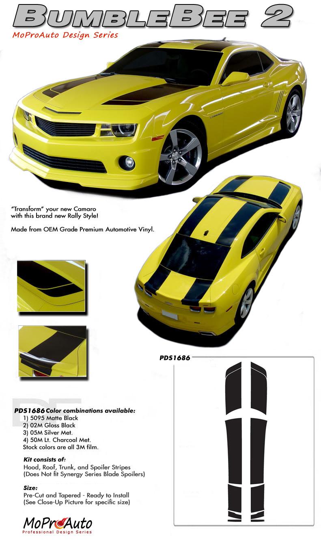 Chevy Camaro BUMBLEBEE 2 2010 2011 2012 2013 Vinyl Graphics, Stripes and Decals Set