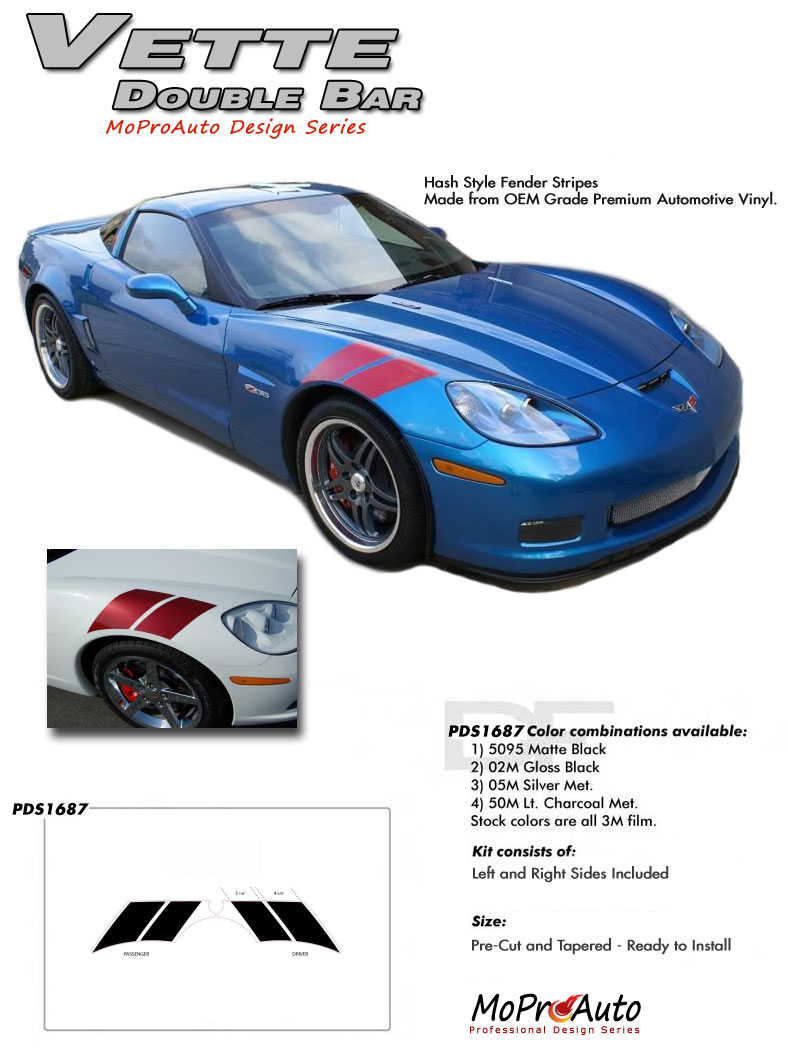 Chevy CORVETTE C6 Vinyl Graphics, Stripes and Decals Set