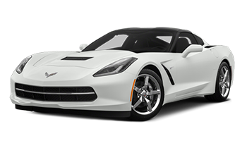 White Chevy Corvette - Ready For Vinyl Graphics Stripes and Decals