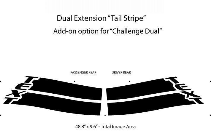 Dodge Challenger DUAL Vinyl Graphics, Stripes and Decals Set