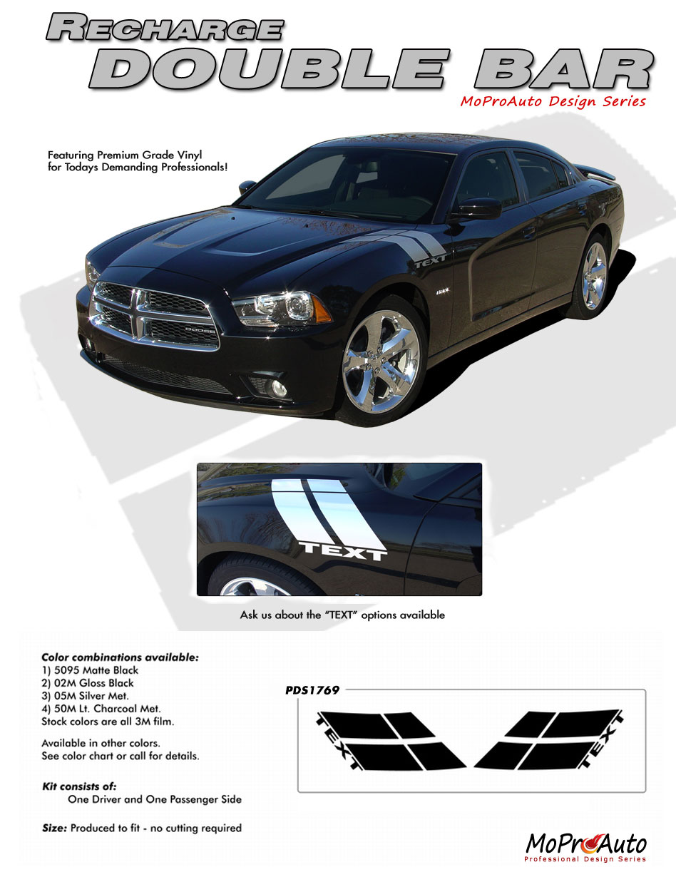 DODGE CHARGER Vinyl Graphics, Stripes and Decals Set