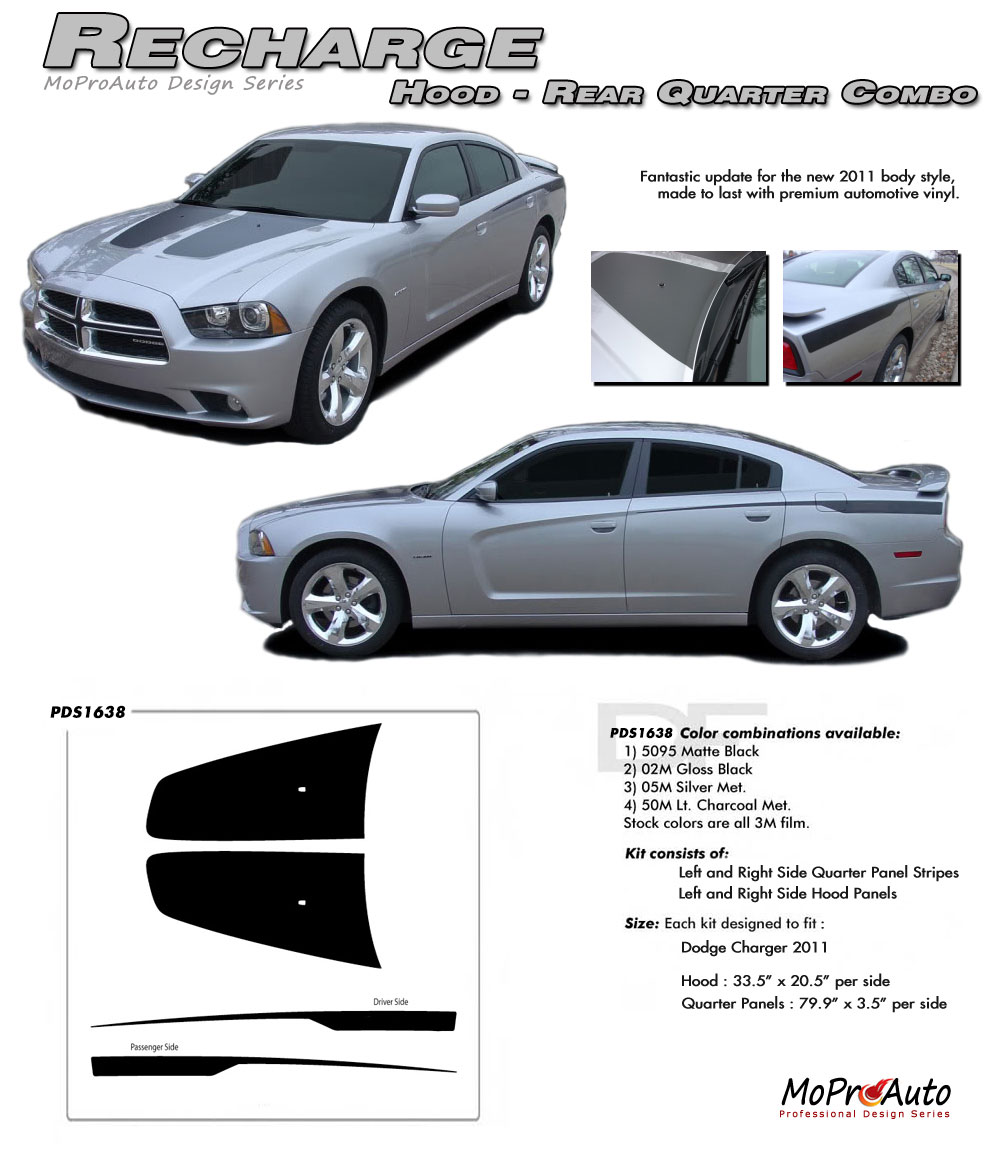 Dodge Charger RECHARGE Vinyl Graphics, Stripes and Decals Set