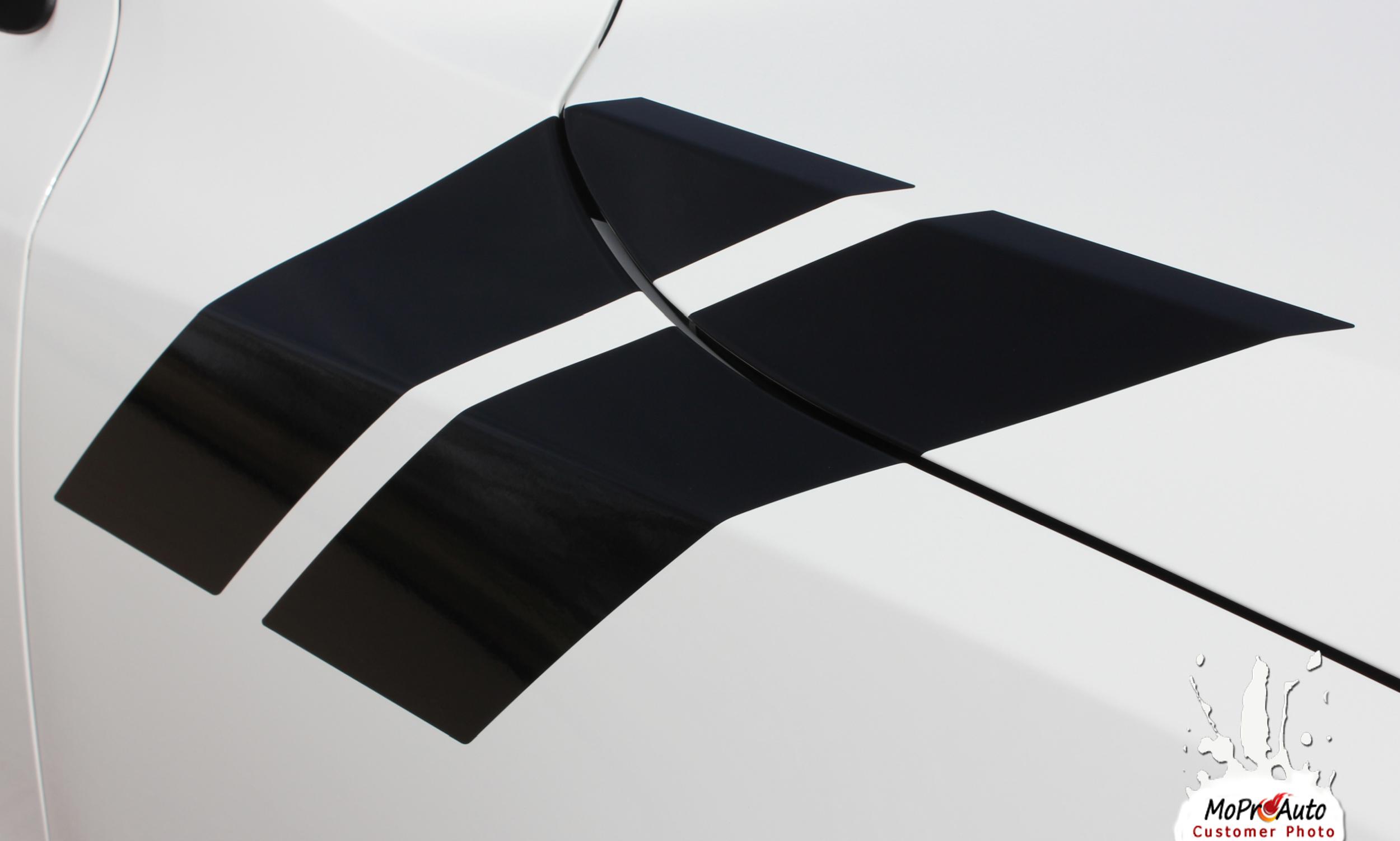 DURANGO DOUBLE BAR | 2011 2012 2013 2014 2015 2016 2017 2018 Dodge Durango Hood Hash Marks Vinyl Graphics Kit MoProAuto Pro Design Series