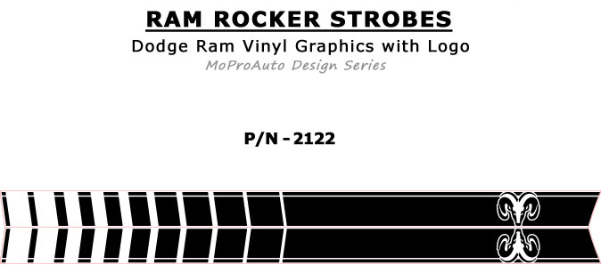 RAM ROCKER STROBES : 2009 2010 2011 2012 2013 2014 2015 2016 2017 2018 Dodge Ram Lower Rocker Panel Stripes Vinyl Graphics Kit MoProAuto Pro Design Series Vinyl Graphics and Decals