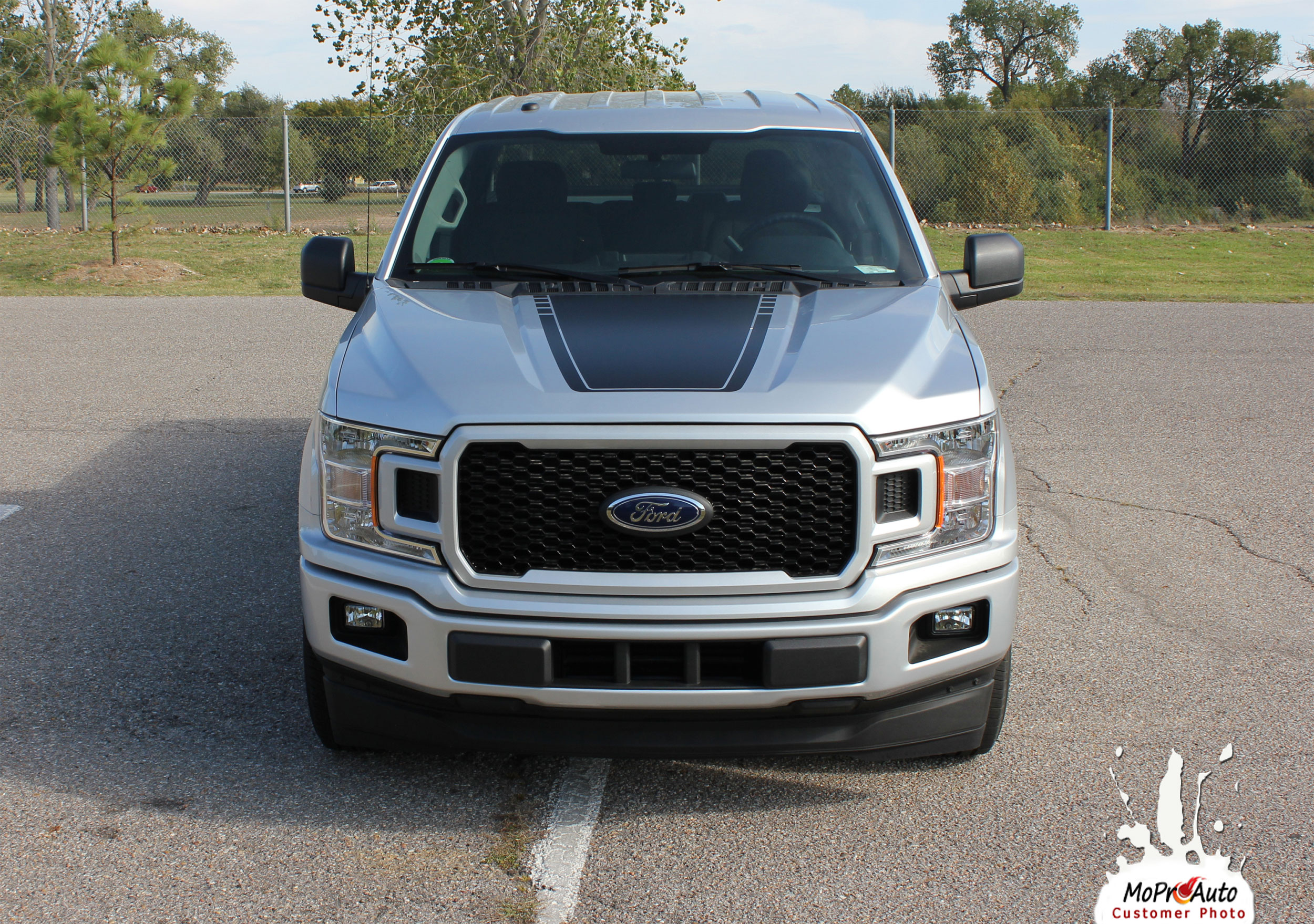 SPEEDWAY HOOD Ford F-Series F-150 Appearance Package Vinyl Graphics and Decals Kit - Customer Photo
