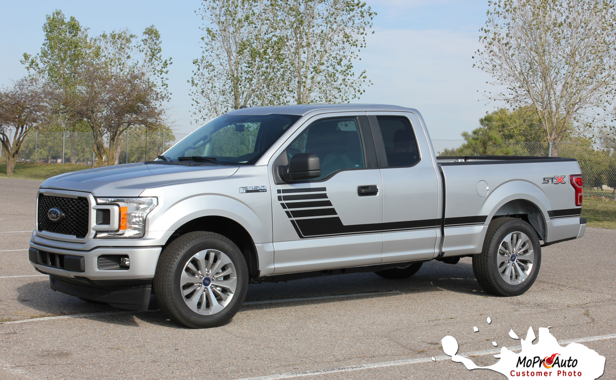 2015 2016 2017 2018 SPEEDWAY Special Edition Ford F-Series F-150 Door Hockey Stick Appearance Package Vinyl Graphics and Decals Kit by MoProAuto Pro Design Series