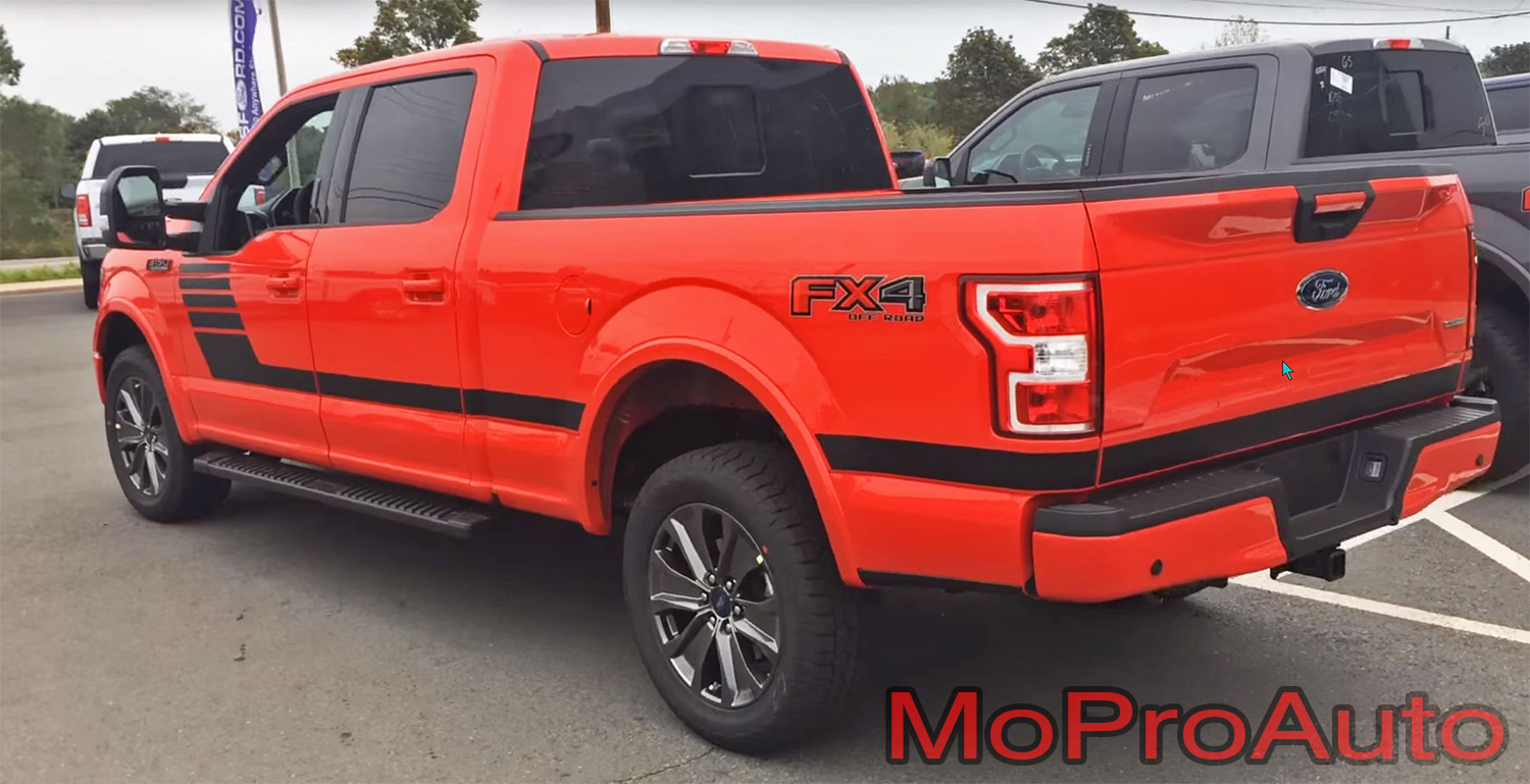 2015 2016 2017 2018 LEAD FOOT STROBE Special Edition Ford F-Series F-150 Door Hockey Stick Appearance Package Vinyl Graphics and Decals Kit by MoProAuto Pro Design Series
