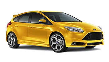 Yellow Ford Focus - Ready For Vinyl Graphics Stripes and Decals