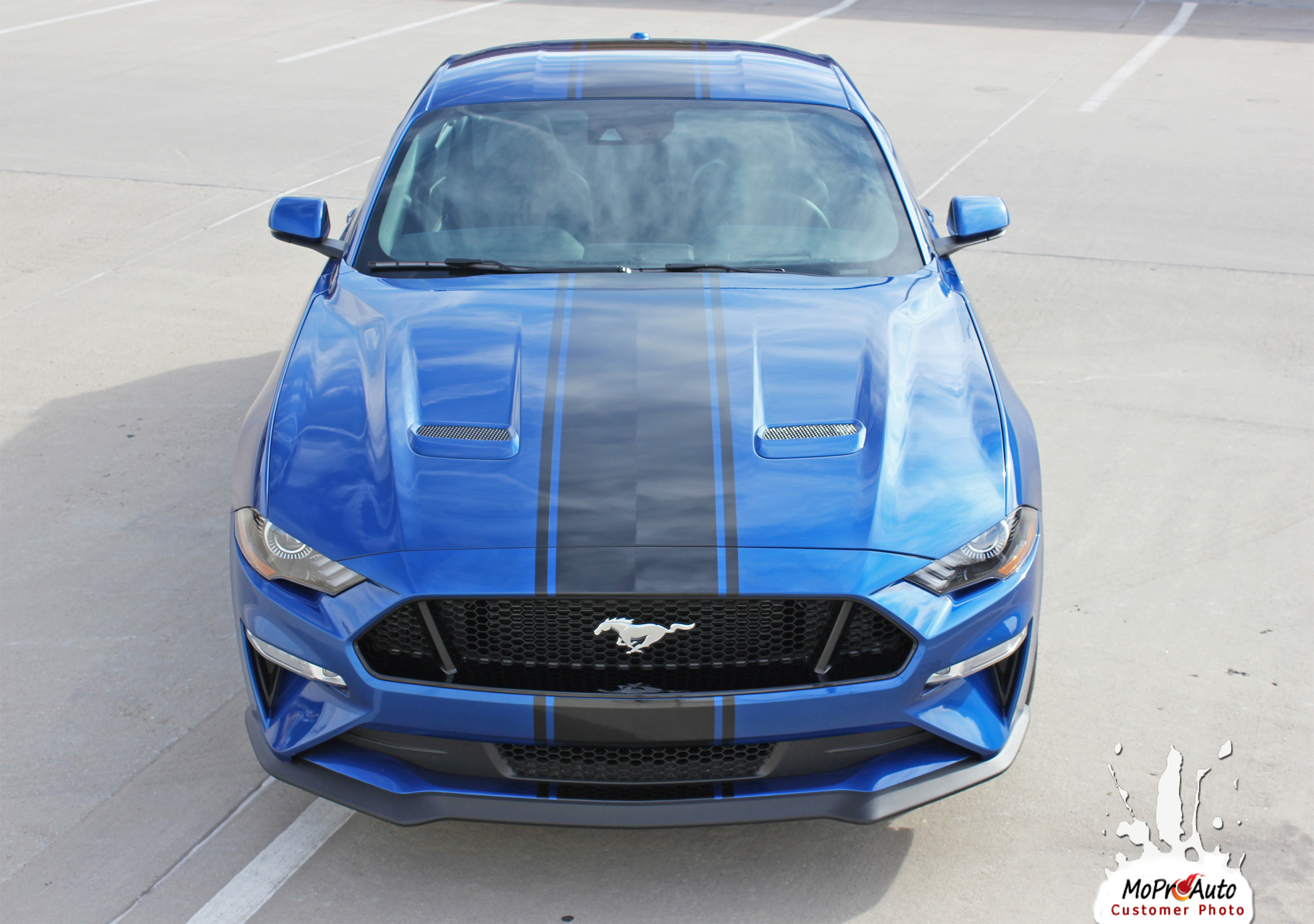 2018 HYPER RALLY OEM Style Racing Stripes for Ford Mustang - MoProAuto Pro Design Series Vinyl Graphics, Stripes and Decals Kit