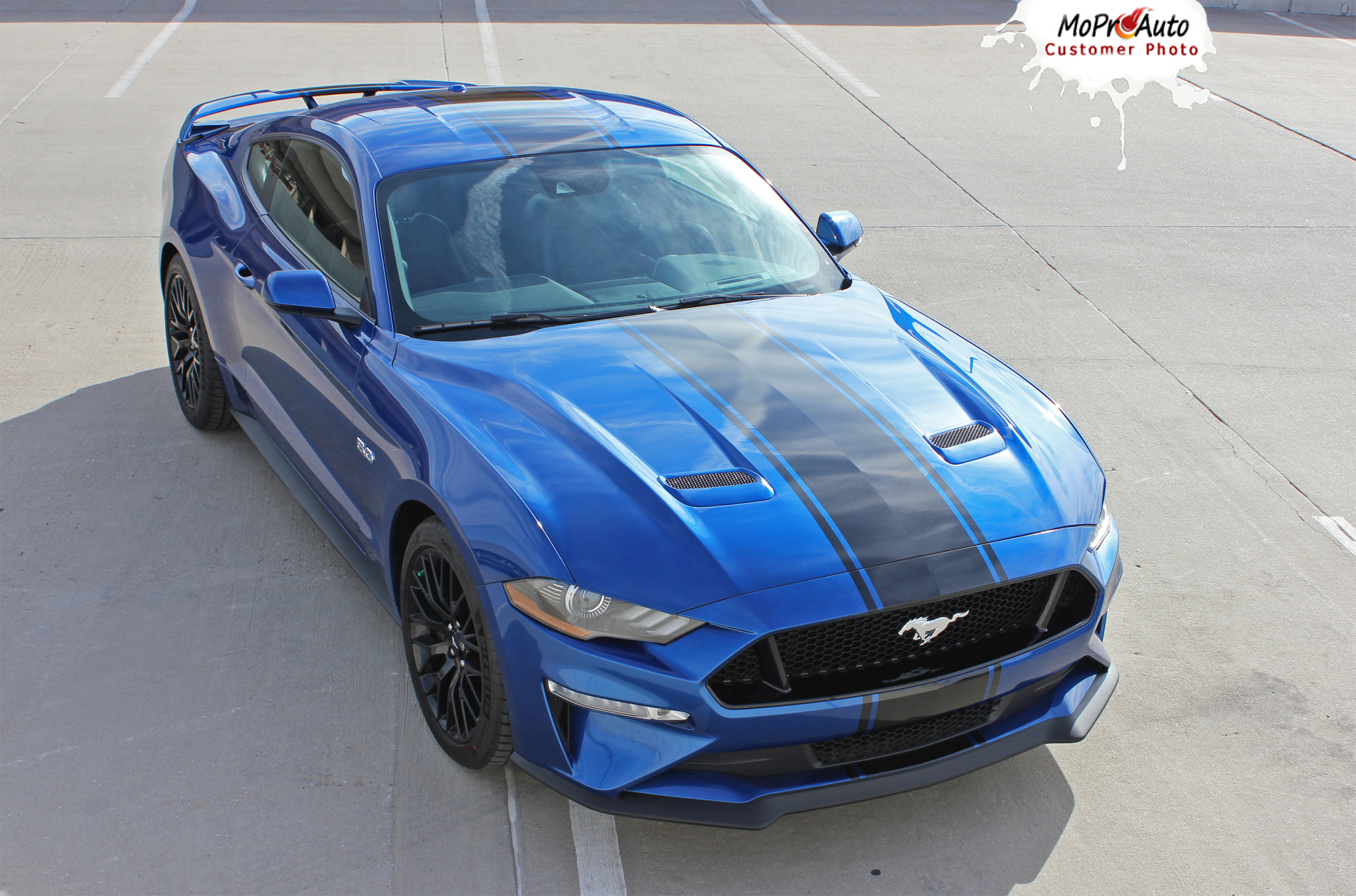 HYPER RALLY : 2018 Ford Mustang Racing Stripes Center Wide Rally Decals Vinyl Graphics Kit ...