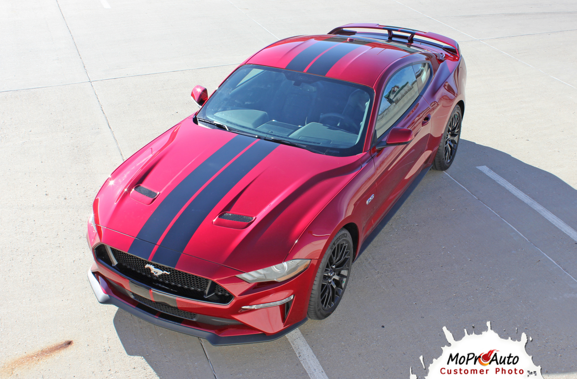 2018 STAGE RALLY SLIM OEM Style Racing Stripes for Ford Mustang - MoProAuto Pro Design Series Vinyl Graphics, Stripes and Decals Kit