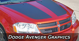 Dodge Avenger Stripes, Avenger Decals, Avenger Vinyl Graphics, Avenger Hood Decals and Body Stripe Kits
