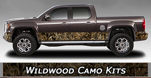 Wildwood Camo Vinyl Graphics Decals Stripe Package Kits