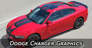 Dodge Charger Stripes, Charger Vinyl Graphics, Charger Hood Decals, and Body Striping Kits