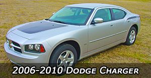 2006-2010 Dodge Charger Vinyl Graphics Decals Stripe Package Kits